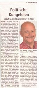 Westfälischer Anzeiger 19.11.2011